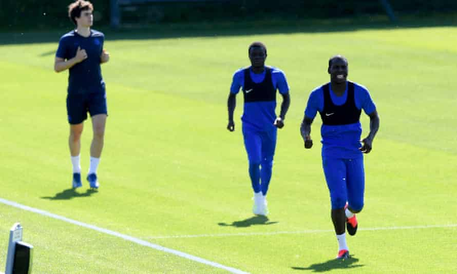 Chelsea players return to the training ground after Covid-19 restrictions being relaxed