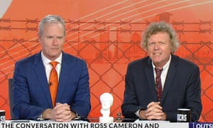 Ross Cameron, who was sacked for offensive descriptions of Chinese people, and Rowan Dean on Sky News' Outsiders.