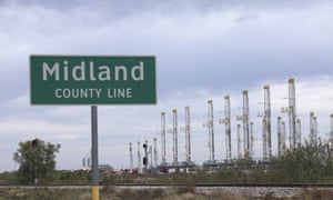 Oil rigs in Midland, Texas on 17 November 2016.