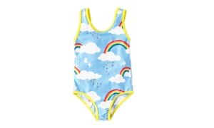 Swimsuit, £14.50-16boden.co.ukBoden's prints for kids are always wonderful, but this is one of the best yet. It also comes on a beautiful dress, dungarees and a tunic for tiny ones.