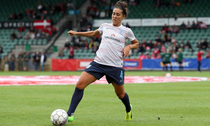 England's Fara Williams warms up before the friendly against Denmark.