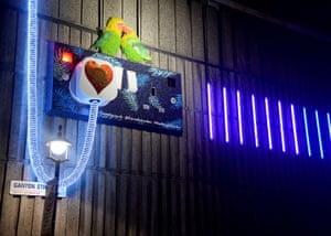 The Plug and Bulbs by James Glancy Design on Ganton Street, near Carnaby Street