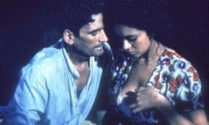 Massimo Troisi and Maria Grazia Cucinotta.