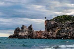 Punta Ventana, a popular tourist landmark, just south of Guayanilla