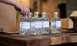 Hand sanitiser made by a Sydney distillery during the coronavirus crisis