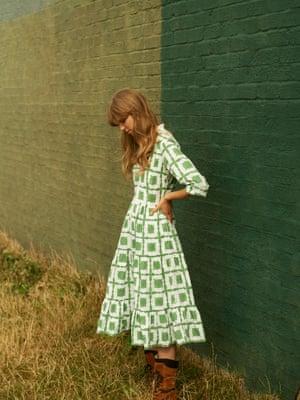 Dakota dress, £235, daydress.co.uk. Boots, £175, celticandco.com