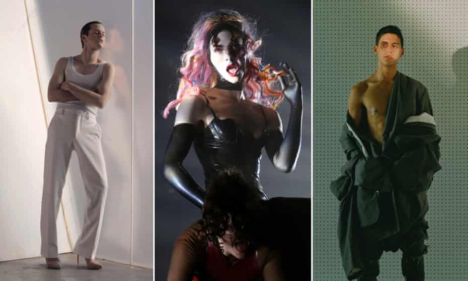 'Their music twists into new shapes without names' ... (Left to right) Perfume Genius, Sophie, Arca.