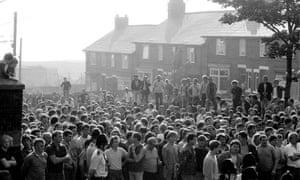 Collective action … mass walkouts in Easington Colliery during the miners' strike