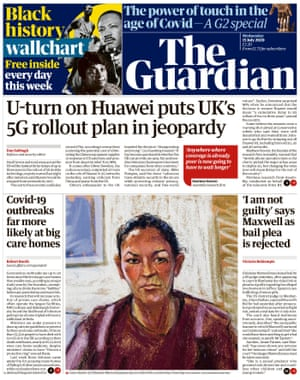 Guardian front page, Wednesday 15 July 2020
