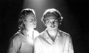 Steven Waddington as Edward and Andrew Tiernan As Gaveston in Derek Jarman's Edward II.