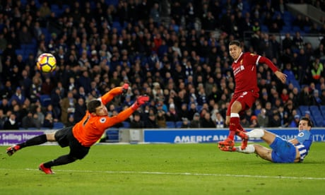 Roberto Firmino on target twice as Liverpool fire five past Brighton