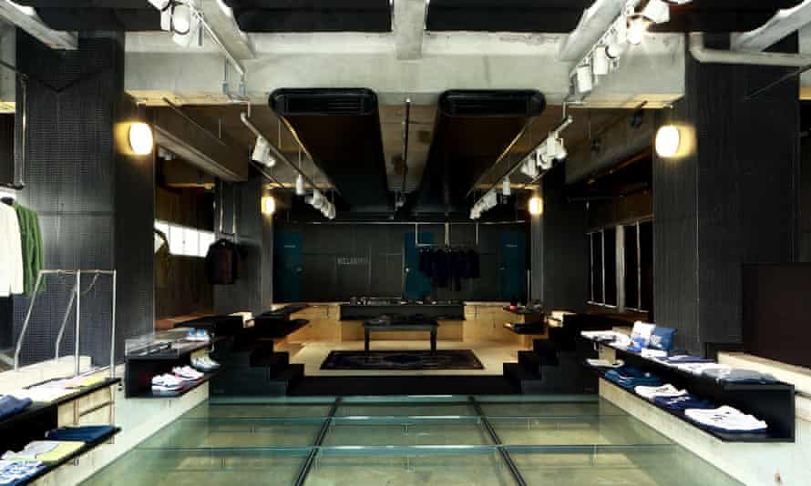 The Pool store, with clothes and miscellany arranged for purchase, in Tokyo, Japan.