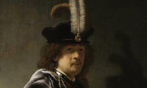 The real deal? Self-Portrait, Wearing a Feathered Bonnet (1635), by Rembrandt van Rijn.