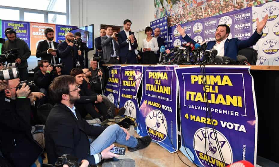 Matteo Salvini of the League