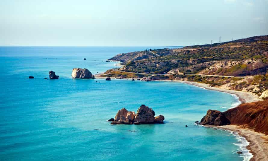 The beach of Paphos, Cyprus, where Aphrodite was born amongst dwarf hippopotami and tiny elephants.