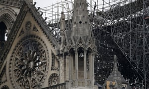 Gen Georgelin fears removing fused scaffolding may cause some of it to fall through the vaulted ceiling