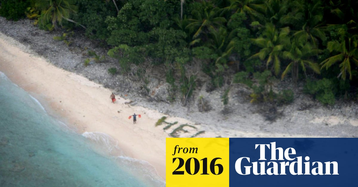 Three Men Rescued From Deserted Island After Spelling Help With