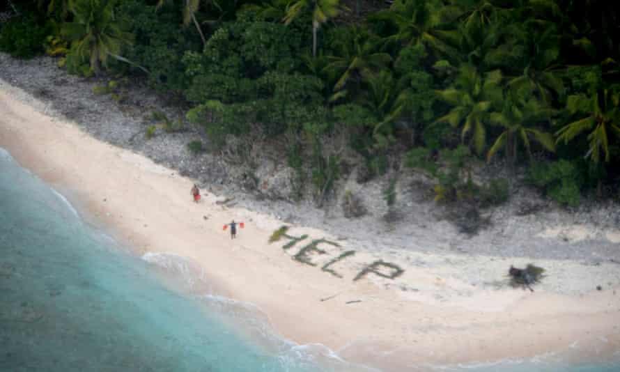 stranded men island