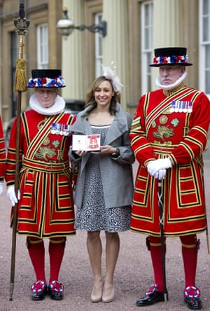 2013 Less than two years after being awarded a MBE Ennis was back at Buckingham Palace to receive a CBE for services to Athletics