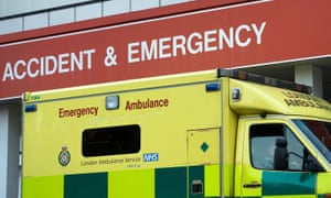 An ambulance outside St Thomas' hospital in London