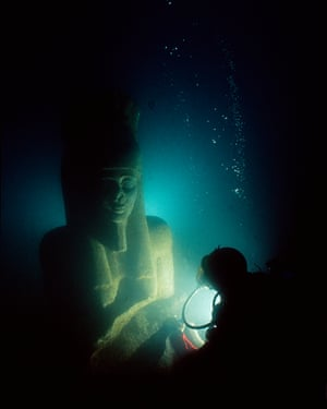 Colossal statue of god Hapy, Thonis-Heracleion