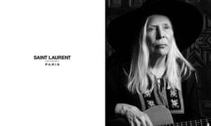 Joni Mitchell for Saint Laurent.