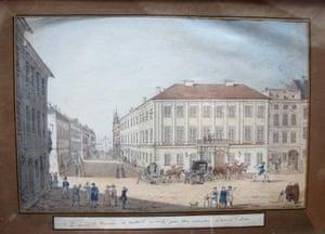 Painting of the Potocki Palace in Kraków by 19th century Polish countess Julia Potocka.