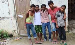 Railway children: Akil, 15, Bijay, Utpal, Deva, Paras, all 13, live on Sealdah station.