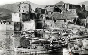 Old photograph of Chateau Royal at Collioure