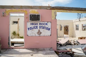 The High Rock neighborhood police station in the eastern part of Grand Bahama Island.