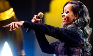 'Shit's crazy' … Rihanna.