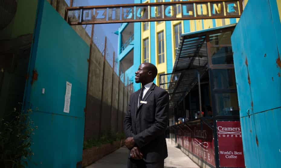 Webster Maboka, doorman at the One Eloff Street redevelopment project.