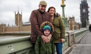 Six-year-old Alfie Dingley with his parents Drew and Hannah Deacon, who have won their fight to let him take medicinal cannabis