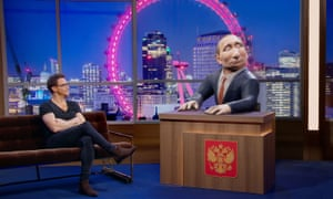 Joe Swash speaking to digital Putin