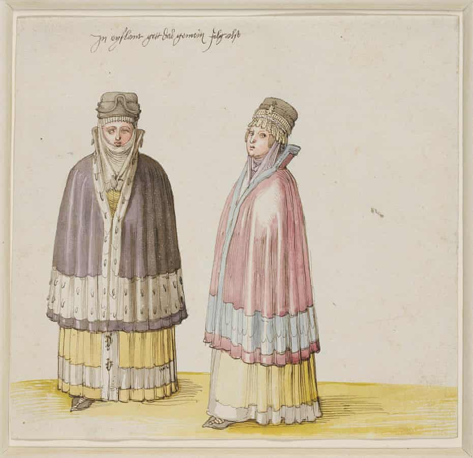 Two Livonian Women by Albrecht Dürer, 1521.