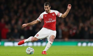 Henrikh Mkhitaryan has made 20 appearances for Arsenal so far this season but will not figure again until February 2019.