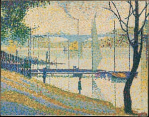 Bridget Riley Copy after Seurat's Bridge at Courbevoie, 1959