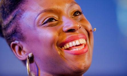Chimamanda Ngozi Adichie at the 2014 Hay festival.
