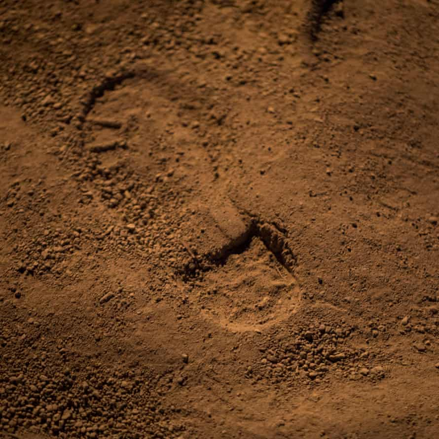 A footprint in the earth