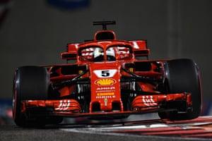 Sebastian Vettel driving for Ferrari