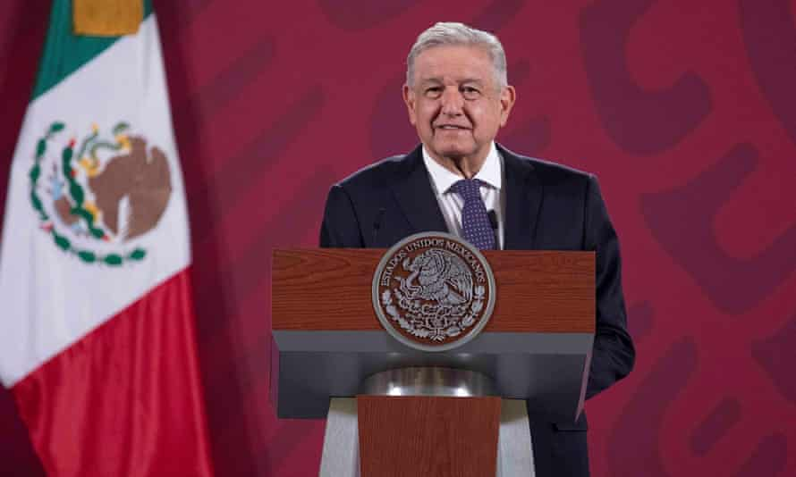Mexican President Andrés Manuel López Obrador during a press conference last week