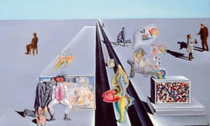 … detail from The First Days of Spring (1929) by Salvador Dalí, in Dali/Duchamp at the Royal Academy, London.