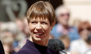 Kersti Kaljulaid, the president of Estonia. The country is widely known as the birthplace of Skype, one of its four unicorns.