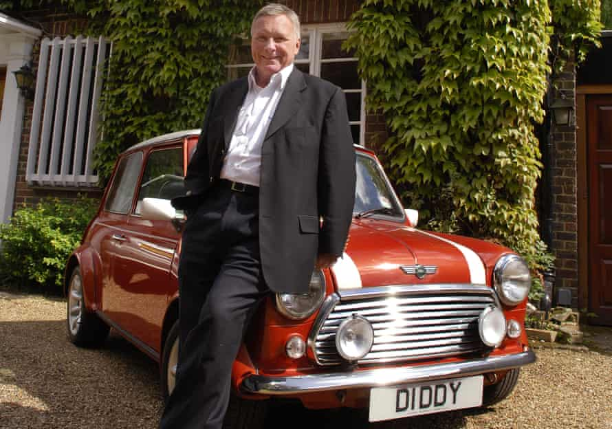 DJ David Hamilton and his Mini with a number plate bearing his nickname.