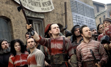 Street-fighting man … Graham, far right, with Leonardo DiCaprio in Gangs of New York.
