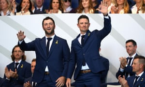 Jon Rahm and Justin Rose will get Europe's campaign under way.