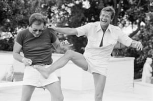 Peter Sellers and Roger Moore, Beverley Hills, mid-70s'Peter Sellers was a complicated man,' said O'Neill. 'I knew him really well, and was with him through the highs and lows. I considered myself a good friend of his and he was certainly a good friend to me. He just never fully believed in himself and his talent. He was a gifted actor, comedian, writer and singer. It was difficult, sometimes, being around him inasmuch as you knew he was facing some very private demons that he didn't want to face head-on'