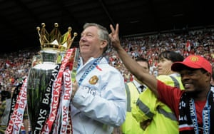 Patrice Evra (right) still has a very close relationship with Alex Ferguson.