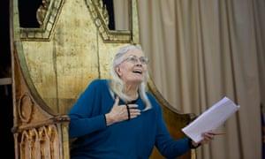 In rehearsals … Vanessa Redgrave as Queen Margaret in Richard III at London's Almeida.