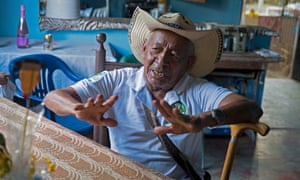 Founding member of the Coobafrío banana co-operative, Don José Manuel Suarez, 80, in his house, built in part with the Fairtrade premium.